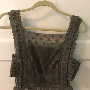 Free people lacey cropped tank